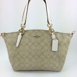 d9934f6aa8f8 New Coach F28989 Small Kelsey Satchel Purse Handbag Signature Canvas ...
