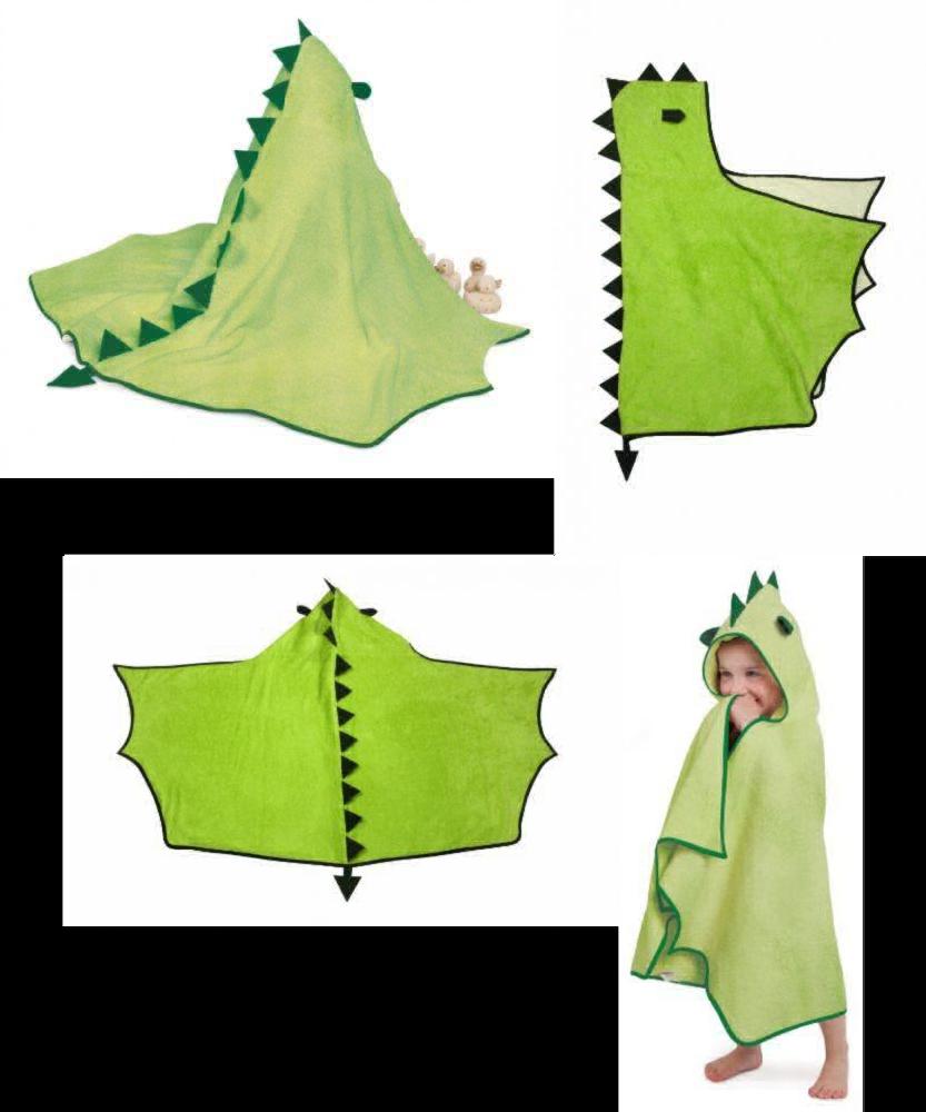 Cuddleroar Dragon Toddler Towel (Green) UK POST FREE