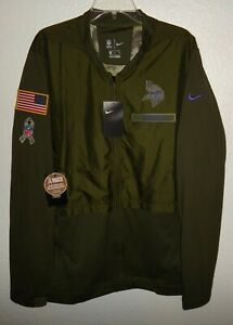 online store 8cf12 57d64 Details about NWT MENS XL NIKE MINNESOTA VIKINGS SALUTE TO SERVICE HYBRID  NFL FOOTBALL JACKET