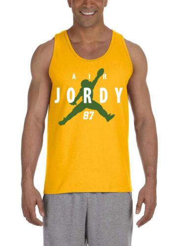 "GOLD Jordy Nelson Green Bay Packers /""Air Jordy/"" T-Shirt MVP TANK-TOP"
