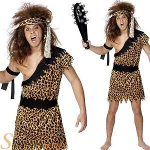 Mens caveman tarzan jungle fancy dress costume stag do cave man image is loading mens caveman tarzan jungle fancy dress costume stag solutioingenieria Images