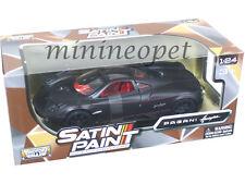 MOTORMAX 79502 PAGANI HUAYRA 1/24 DIECAST MODEL CAR MATTE BLACK w BLACK WHEELS
