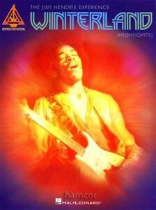 FidèLe The Jimi Hendrix Experience Winterland Faits Saillants Guitar Tab Book-afficher Le Titre D'origine
