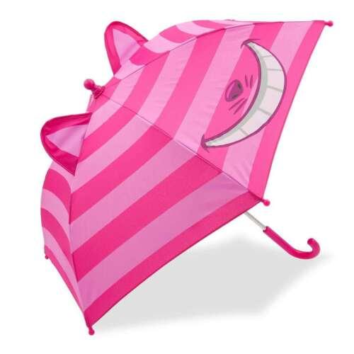 Disney Store Authentic Cheshire Cat 3D Umbrella for Kids Alice in Wonderland New
