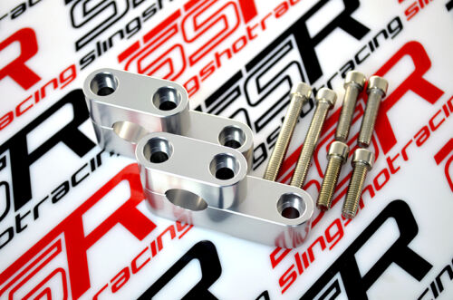 "Details about  /Silver Honda CRF70 CRF250R CRF450R 7//8/"" Handlebar Bar Risers Relocators Adapters"