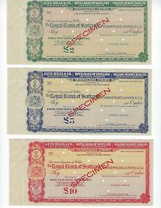 SCOTLAND-ROYAL-BANK-OF-SCOTLAND-SPECIMEN-TRAVELERS-CHECKS-1947-SCARCE