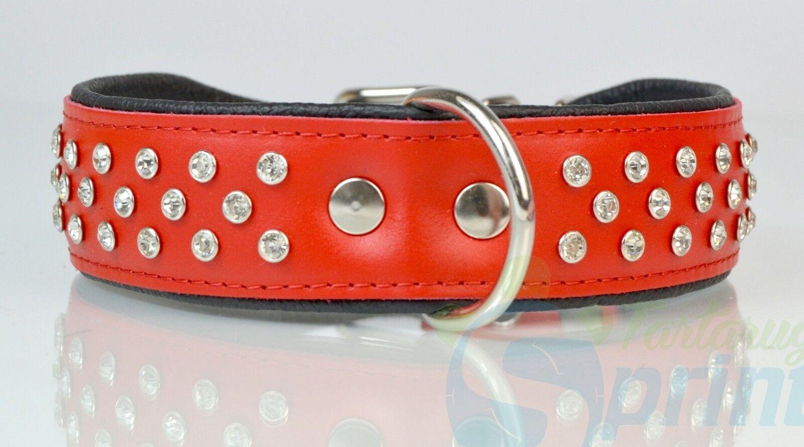 COLLAR DECORATED WITH CRYSTAL collare per cani in pelle decorato con cristalli
