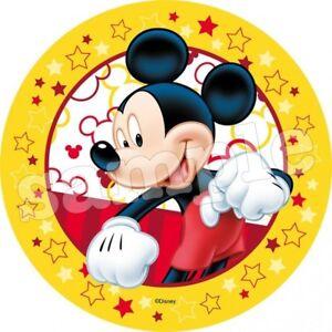 Micky-Minnie-Maus-Essbar-Tortenaufleger-NEU-Party-Deko-Geburtstag-dvd-Tortenbild