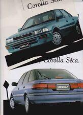 Two 1991 TOYOTA E90 COROLLA Australian 4p Brochures SECA & SEDAN