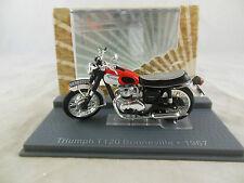 IXO Museum 1967 TRIUMPH T120 Bonneville Rojo/Blanco Tanque Escala 1:24