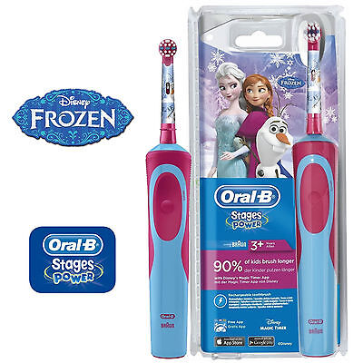 Oral B Vitality Stages Power Electric Rechargeable Toothbrush Frozen For Kids 3+ 4210201202639 | eBay