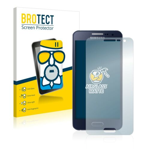 Protección de vidrio lámina Samsung Galaxy a3 2015 Matt de vidrios de seguridad antirreflejos