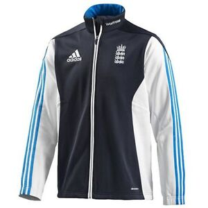 NEW* ADIDAS ECB ENGLAND CRICKET FLEECE JACKET, WAITROSE, 2014-15 ...