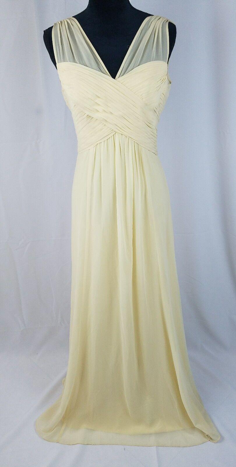 Ralph Lauren Damen 4 Abschlussballkleid Gelb Chiffon Abendkleid