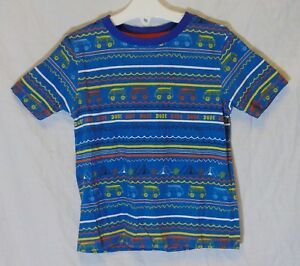 Boys-George-Blue-Camper-Van-Camp-Tent-Holiday-Dude-Tee-T-Shirt-Age-3-4-Years