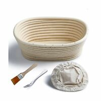 Banneton Proofing Basket 8 Oval Banneton Brotform For Bread An... Free Shipping
