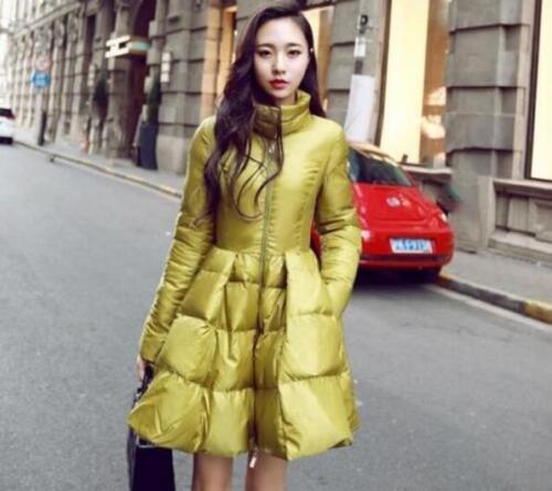 Stylish Women/'s Long Winter Warm Coat Parka Duck Down padded Outwear Overcoat