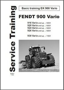 fendt 900 916 920 924 926 930 vario tractor service manual on a cd rh ebay com fendt 820 service manual fendt 306 service manual
