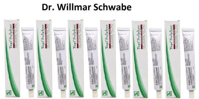 6 X 25 gm Dr  Willmar Schwabe Homeopathic Cream-Scabies,Athlete's Foot,  Ringworm