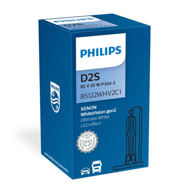 Philips Xenon WhiteVision gen2 HID Bombilla Coche D2S (1 Unidad) 85122WHV2C1