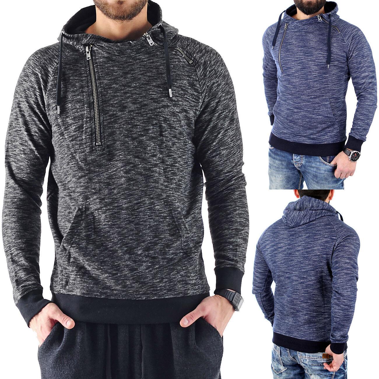 VSCT Sweatshirt Herren Shiro 2 Zip Moulinee Kapuzen Pullover V-5641785 Neu