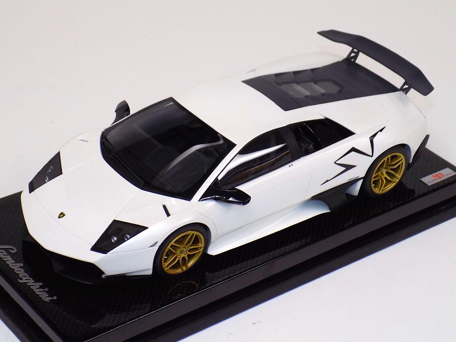 Con precio barato para obtener la mejor marca. 1 18 18 18 Lamborghini Aventador Negro Sportverein alcanzado el señor de oro blancoo ruedas base de fibra de Cochebono  marca de lujo