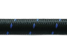 """6AN AN6 3//8/"""" 15FT NYLON STAINLESS STEEL BRAIDED PU RUBBER OIL FUEL LINE HOSE"""