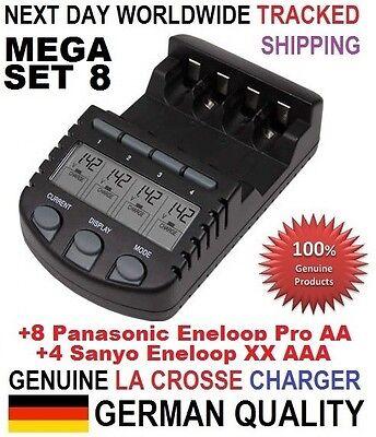 La Crosse BC 700 Charger EU +8x Eneloop Pro AA Technoline +8 Eneloop Pro AAA