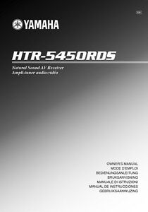 yamaha htr 5450 rds receiver owners manual ebay rh m ebay com Yamaha HTR- 5930 Yamaha HTR 5250 Remote