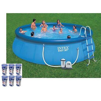 "Intex 18' x 48"" Easy Set Swimming Pool Kit w/ 1500 GPH GFCI Filter Pump |28175EH"