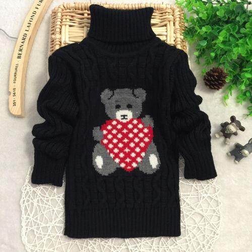 High Quality Kids Babytown Girls Boys XMAS Bear Sweater Top Warm Outwear