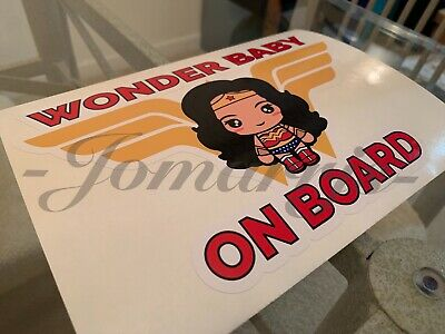 Vinyl Vehicle Kids Graphic Window Sticker Superman Baby on Board DC Comics