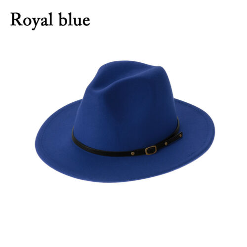Belt Buckle Wide Brim Outback Hat Felt Fedora Hats Cowboy Hat Panama Jazz Hat