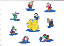 Snow white & seven dwarfs fabric iron on  appliques, 3 3/4 in. dwarfs about 2 in