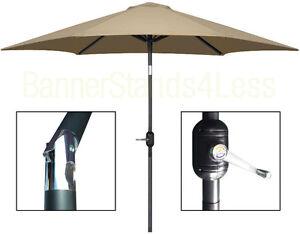 Image Is Loading 8 Ft Patio Umbrella W Crank Tilt Market
