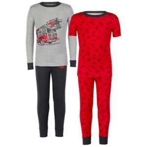 10               L-9 Kirkland Signature Boy/'s 4 Piece Pajamas Set Size