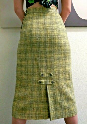 EPIC BOMBSHELL PENCIL 50'S SEXY SKIRT Chartreuse G