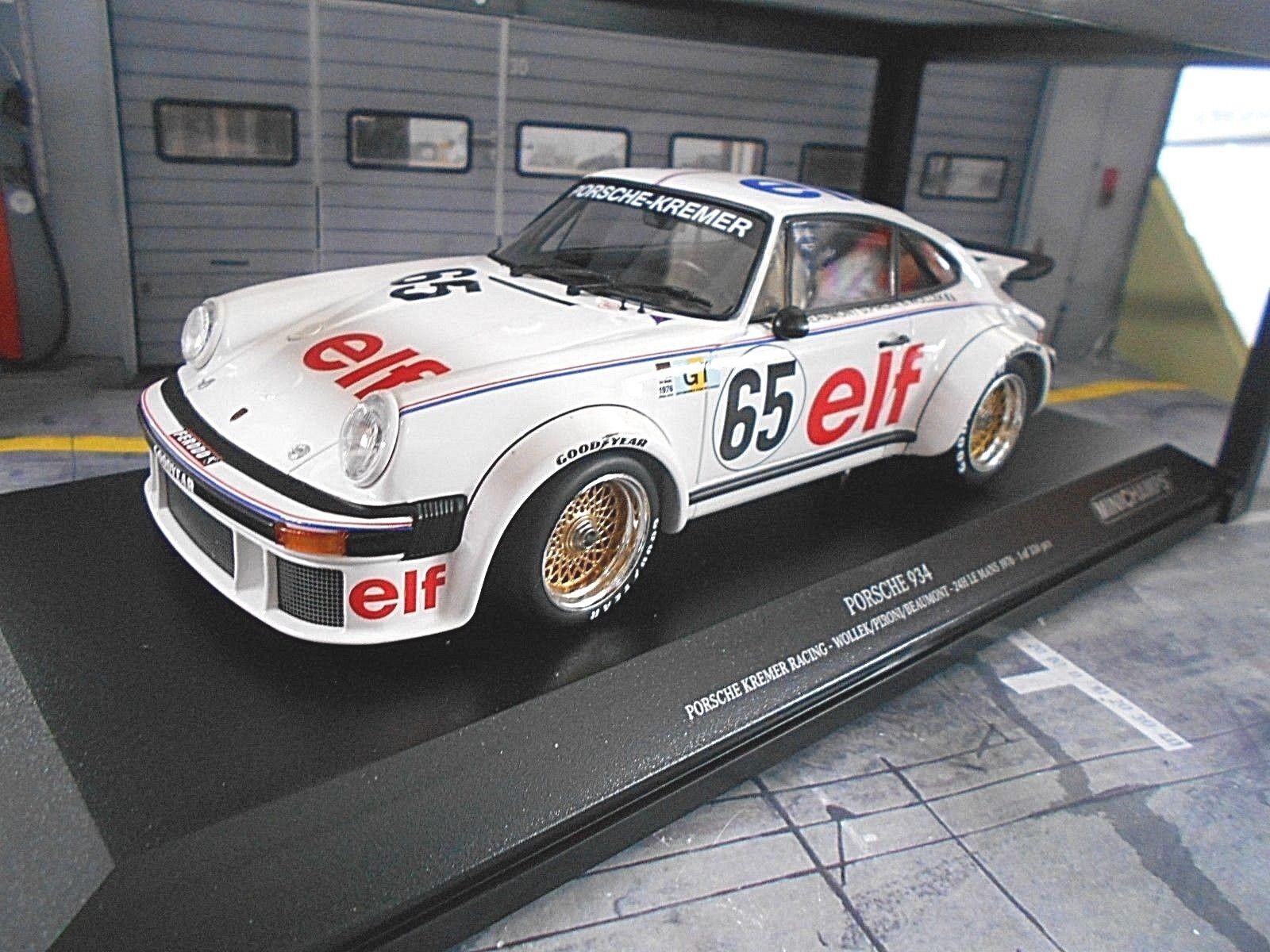 Porsche 911 934 turbo kremer le mans 1976 wollek pironi once Minichamps 1 18