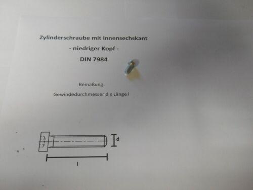 ZYLINDERSCHRAUBEN NIEDRIGER KOPF 8.8 DIN 7984 100 x M 5 x 10