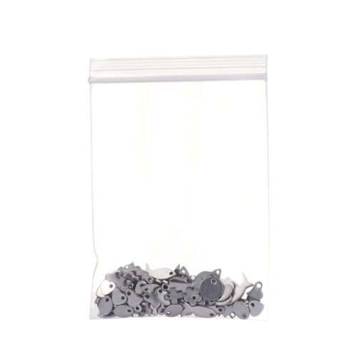 100PC Assorted Stainless Steel Pendants Smooth Dangle Charm Findings 5~10x4~12mm