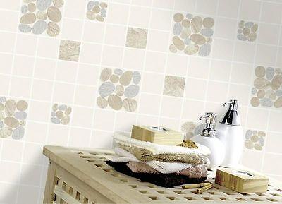 Holden Decor Pebble Embossed Tile Kitchen Bathroom Wallpaper Black 89120