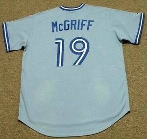 newest e8efd 6295c Details about FRED McGRIFF Toronto Blue Jays Majestic Cooperstown Away  Baseball Jersey