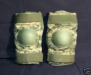 USGI Military USMC Army Bijans WOODLAND Camo ELBOW Pads Tactical Medium MINT