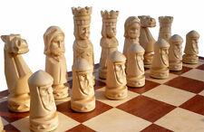 Schach Schachspiel CASTLE Handgeschnitzt Schachbrett 56x56 cm KH 120 mm Holz