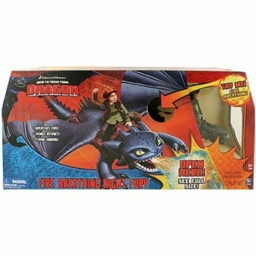 Spin Master How To Train Your Dragon 2010 Fire Breathing Night Fury No Hiccup For Sale Online Ebay