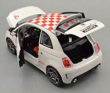 FIAT ABARTH 500 White sporty Bburago1:24 scale Diecast Model Car Gift idea BNIB