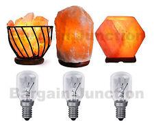 3 x Himalayan Salt Lamp Bulb 25w E14 Screw in Pygmy Bulbs Fridge Appliance Oven