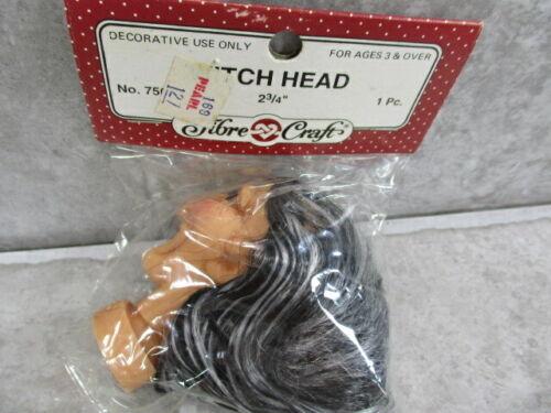 "Fibre Craft  Witch Head Craft Piece NOS Doll Parts 2 3//4/"" #7507"