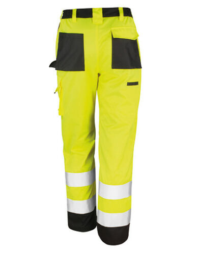RESULT RT327 Warnschutz Hose Arbeitshose Berufshose Bauhose Straßenbau Bundhose