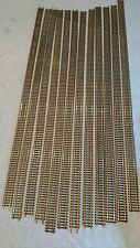 """vintage HO 12 pieces 36"""" inch flexable track,  brass"""